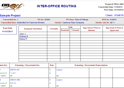 Interoffice Transmittal